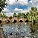 5 Arches of Bakewell Bridge by Avril Harris