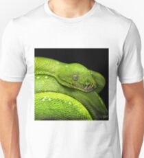Green Python Watercolor Unisex T-Shirt
