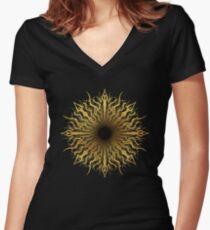 black hole sun Women's Fitted V-Neck T-Shirt