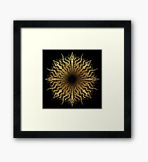 black hole sun Framed Print
