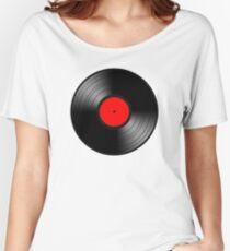 VINYL RED Women's Relaxed Fit T-Shirt