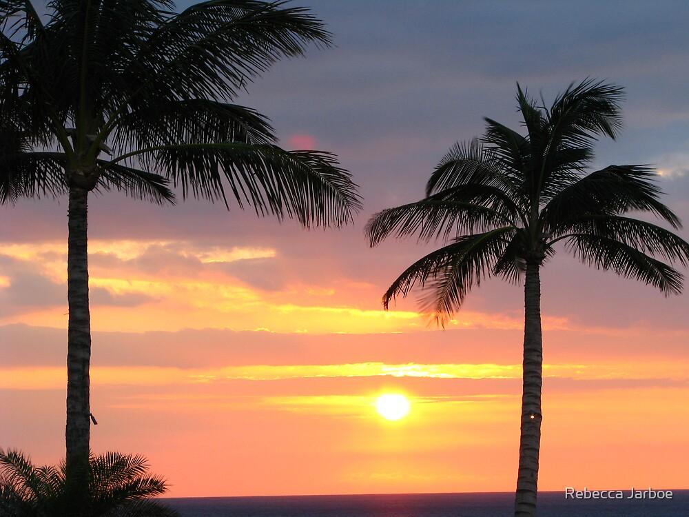Kona sunset by Rebecca Jarboe