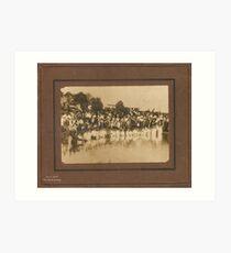 Baptism in pond, Dublin, Graves County, Kentucky abt 1900 Art Print