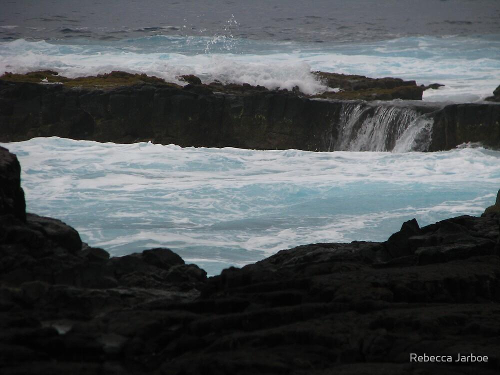 Black Rocks - Blue Water #2 by Rebecca Jarboe