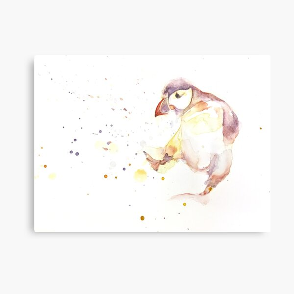 Playful puffin Canvas Print