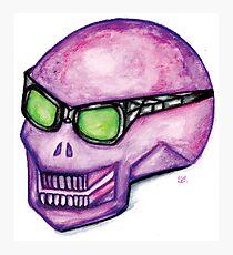 Pink Punk Skull Photographic Print