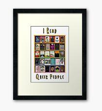 I Read Queer People Framed Print