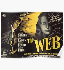 The Web - vintage horror movie poster Poster
