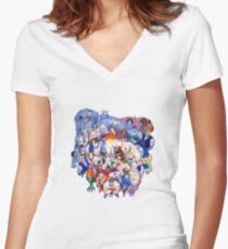 The Street Fighter Crew Women's Fitted V-Neck T-Shirt