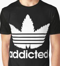 Addicted adidas logo parody Graphic T-Shirt