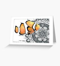 Clown Fish and Mandala Greeting Card
