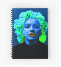 Paradox of Marylin Monroe (blue) Spiral Notebook