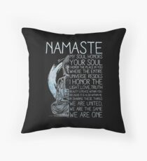 buddhism religion Throw Pillow