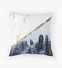 Cool marble desert blooms Throw Pillow