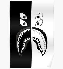 Bape Shark Digital Art Posters