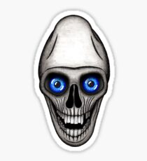 Deformed Skull Sticker