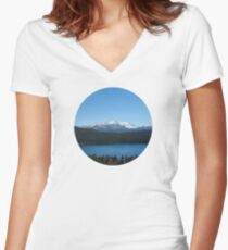 Carson Range Photography Print Women's Fitted V-Neck T-Shirt