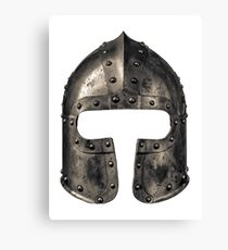 Medieval Armour Helmet Canvas Print
