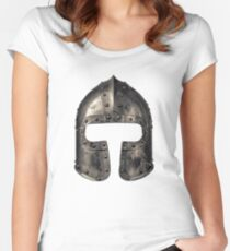 Medieval Armour Helmet Women's Fitted Scoop T-Shirt