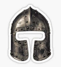 Medieval Armour Helmet Sticker