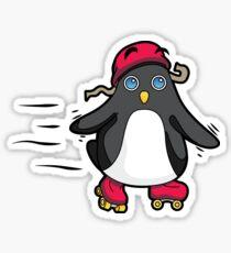 Little Baby Penguin Roller Skate Time! Sticker