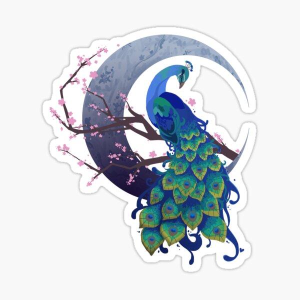 Peacock Dreams Sticker