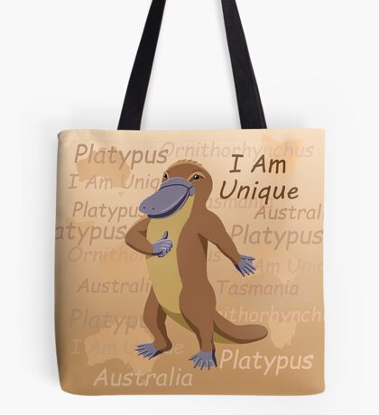 Platypus - I Am Unique Tote Bag