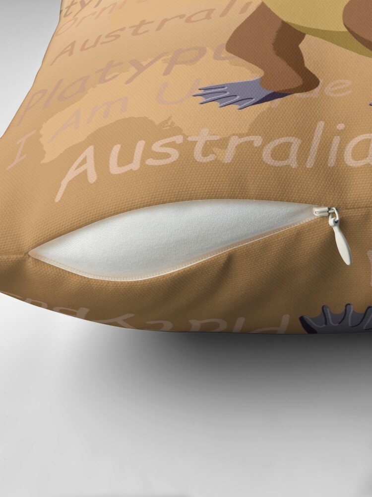 Alternate view of Platypus - I Am Unique Throw Pillow