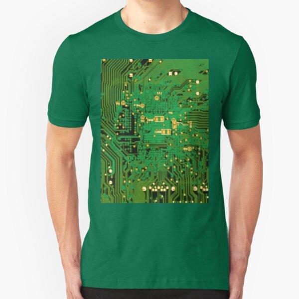 Circuit Board Slim Fit T-Shirt