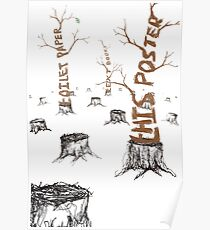 Anti-Deforestation Poster Poster