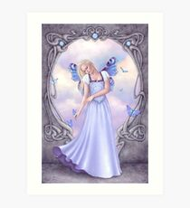 Opal Birthstone Fairy Art Print
