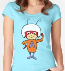 Atom Ant, The Secret Squirrel Show Women's Fitted Scoop T-Shirt
