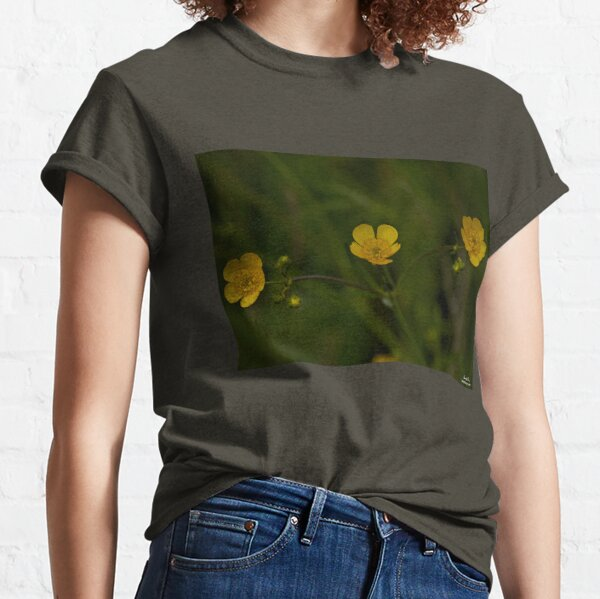 Three Meadow Buttercups - Burntollet Woods, County Derry Classic T-Shirt