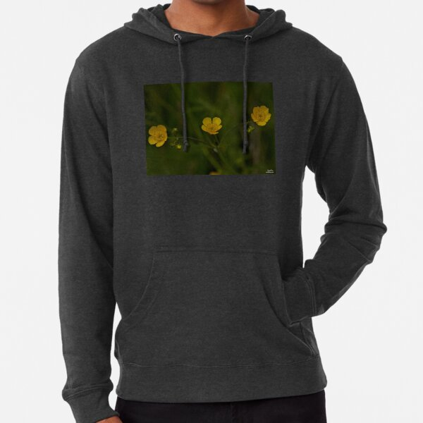 Three Meadow Buttercups - Burntollet Woods, County Derry Lightweight Hoodie