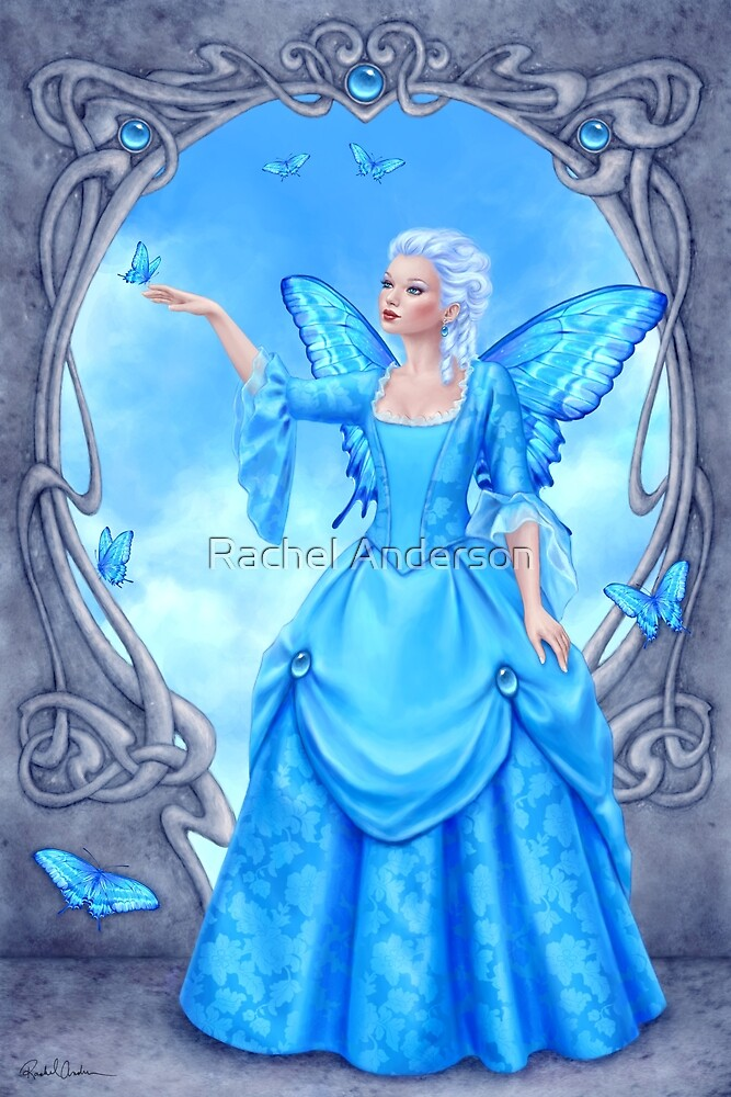 Quot Blue Topaz Birthstone Fairy Quot By Rachel Anderson Redbubble