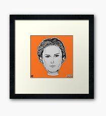 (The Most Beautiful Woman - Natalie Portman) - yks by ofs珊 Framed Print