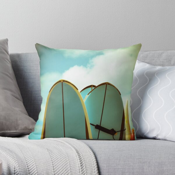 Vintage Surf Boards Throw Pillow