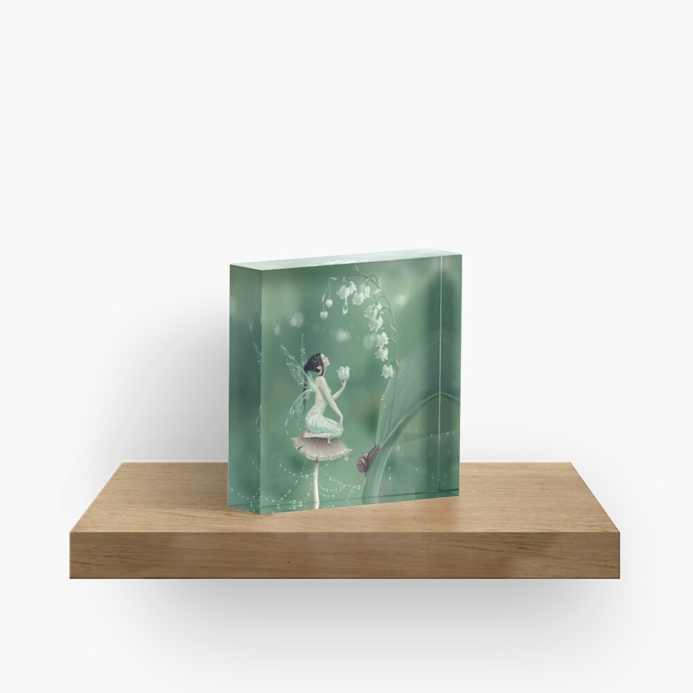 Lily of the Valley Flower Fairy Acrylic Block