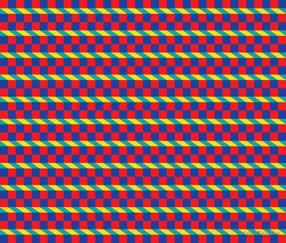 Abstract Square Pattern by ArtfulDoodler