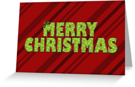 """Wrapped """"Merry Christmas"""" Print by Kris Allen"""