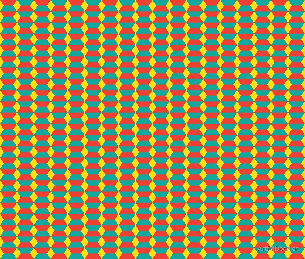 Abstract Diamonds and Stripes by ArtfulDoodler