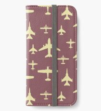Fly Past Overhead Mixture of Aeroplanes iPhone Wallet