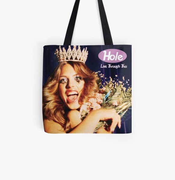 Live Through This All Over Print Tote Bag