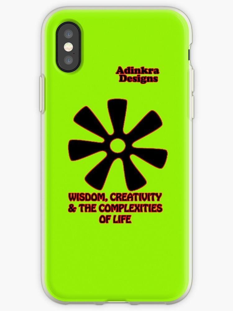 12-iphone4-Adinkra-Series-Wisdom-Creativity by Keith Richardson
