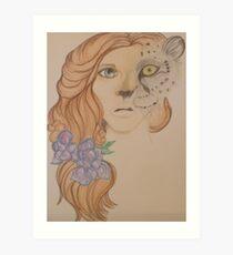 Leopard Girl Art Print