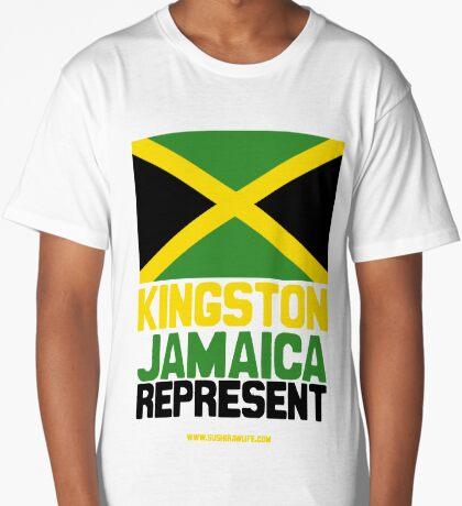 Jamaica, Represent Long T-Shirt