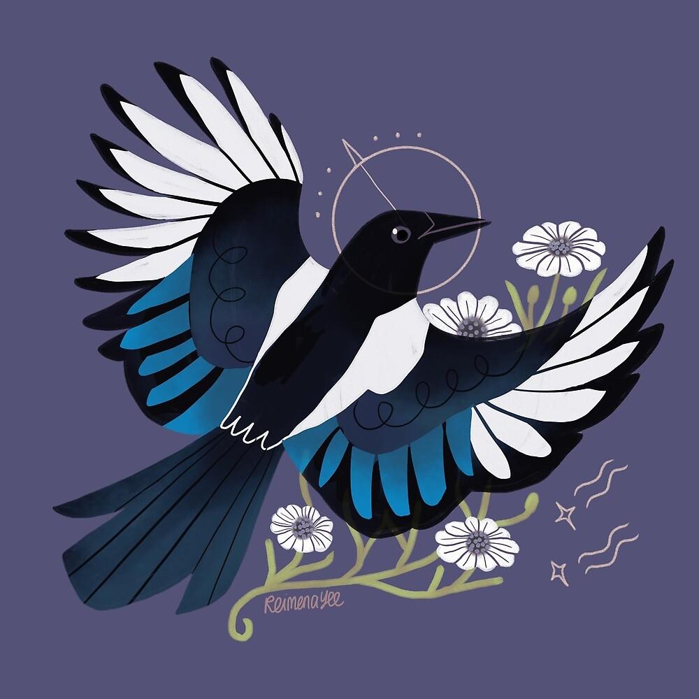 Familiar - European Magpie by straungewunder