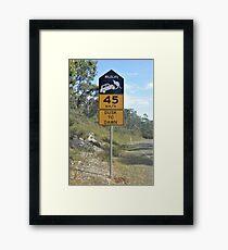 Beware of Kangaroo Car Jackers Framed Print