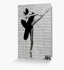 the black tutu Greeting Card