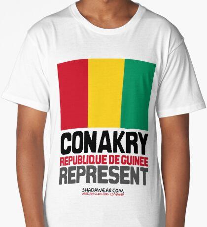 Conakry, Republique de Guinée. Represent Long T-Shirt